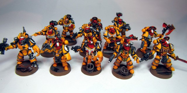 Collection of Imperial Fist sergeants